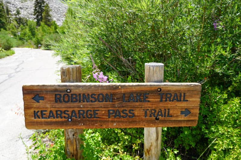 Hikes at Onion Valley Trailhead in the Eastern Sierra of California