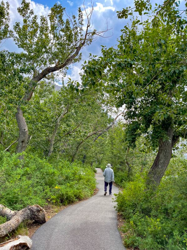 Walking the Convict Lake Loop Trail in the summer