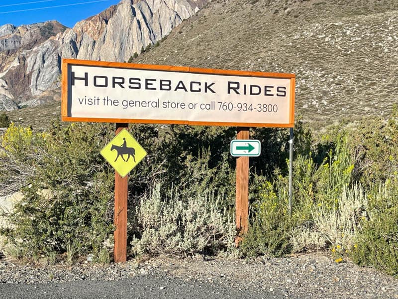Horseback riding is offered at Convict Lake, California