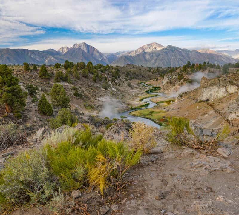 Hot Creek Geological Site in Mammoth Lakes, CA