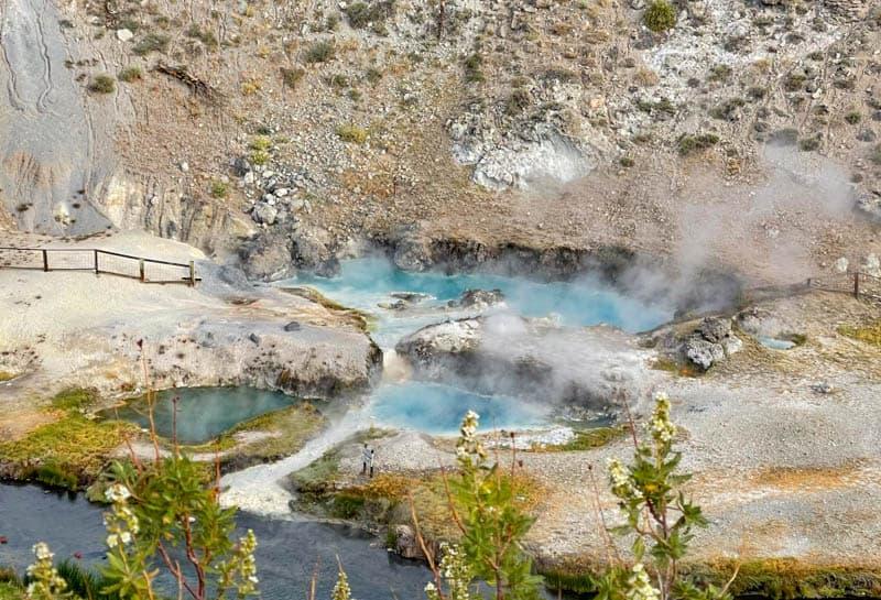 Aqua Pools at Hot Creek Gorge in Mammoth Lakes, CA