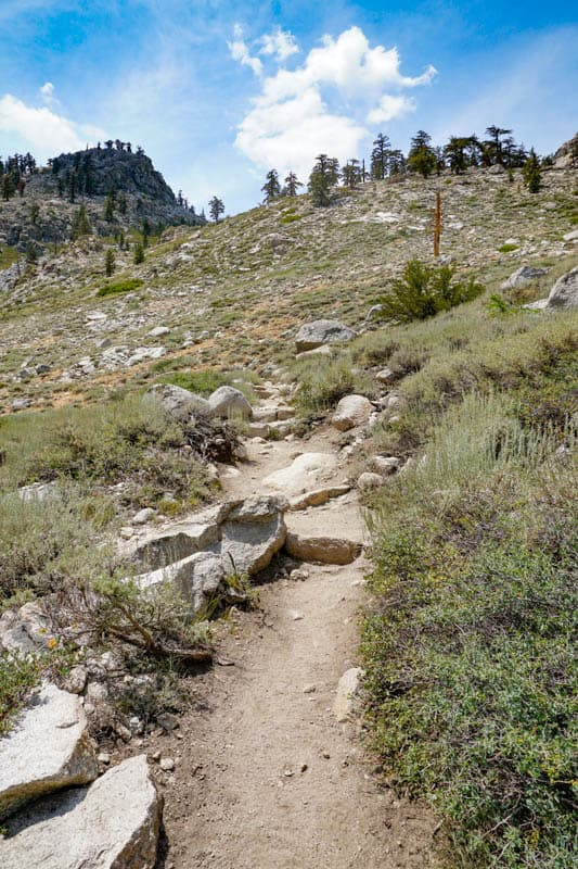 Kearsarge Pass Trail at Onion Valley