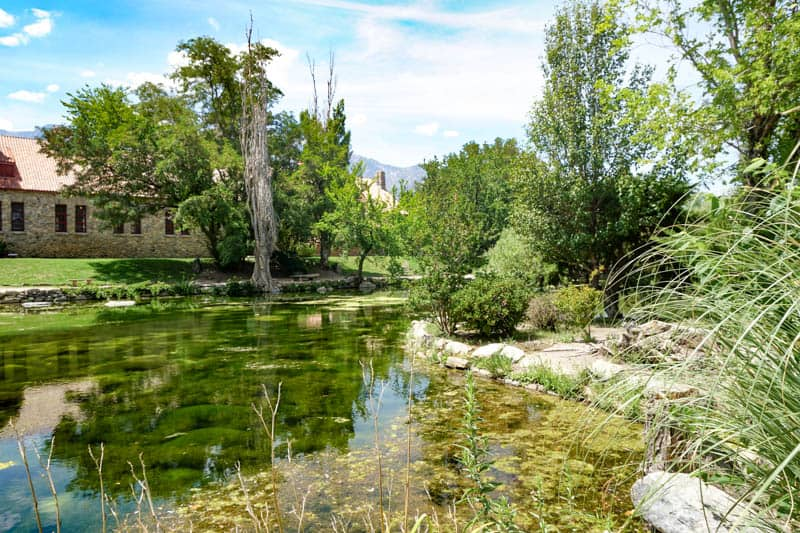 Pond at the Mt. Whitney Historic Fish Hatchery in Independence, CA