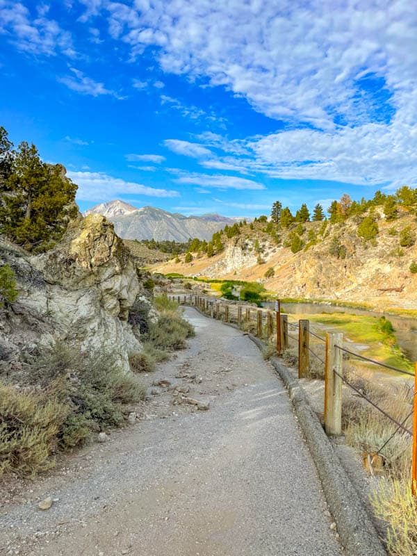 Pathway at Hot Creek Geological Site in Mammoth Lakes, CA
