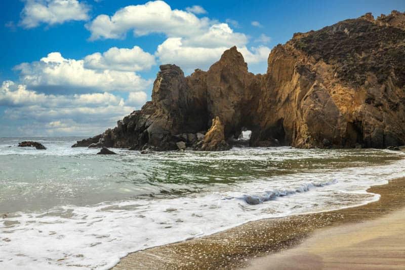 Rock formation at Pfeiffer Beach in Big Sur, California