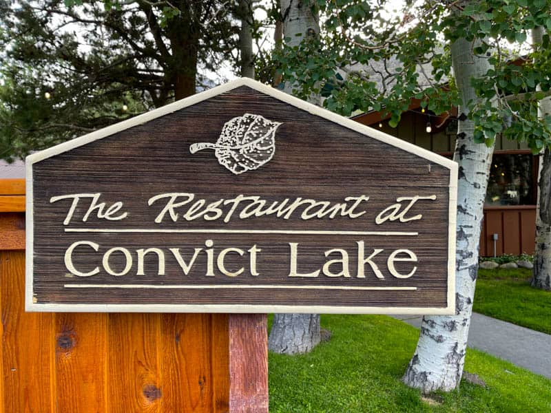Eating at the Restaurant at Convict Lake is a must when you visit!