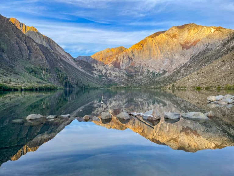 Convict Lake is one of the most beautiful lakes in California