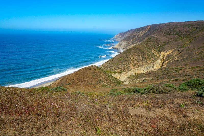 View from Tomales Point Trail in Point Reyes CA