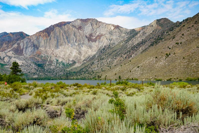 View of Convict Lake from Day Use Parking Lot