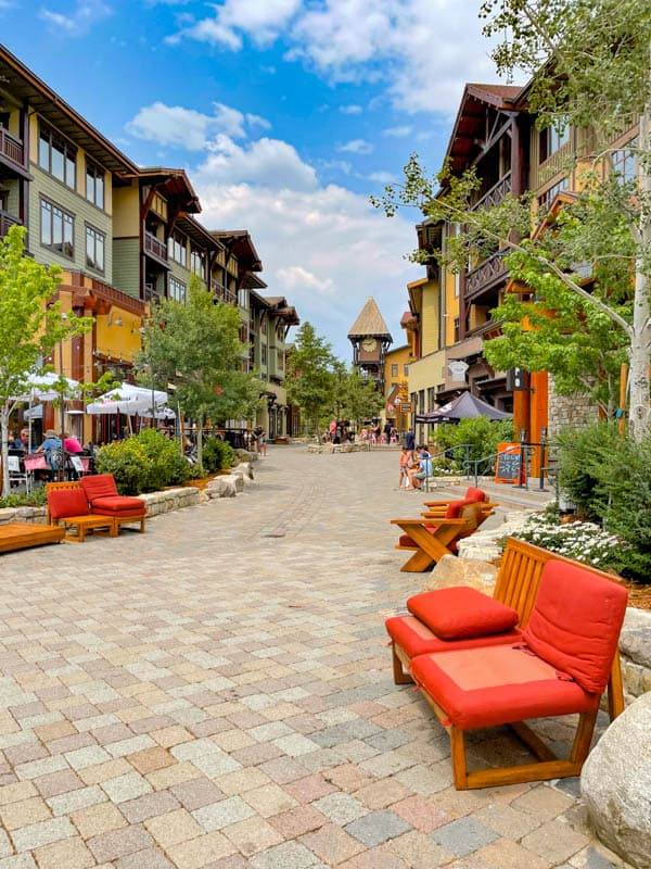 The Village at Mammoth is a fun place to hang out!