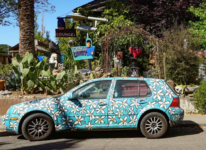 The colorful Amiot-Laurent car in Sebastopol, California
