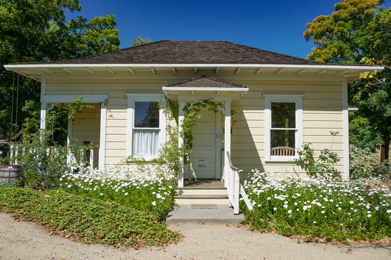 Historical cottage at the Luther Burbank Experiment Farm in Sebastopol