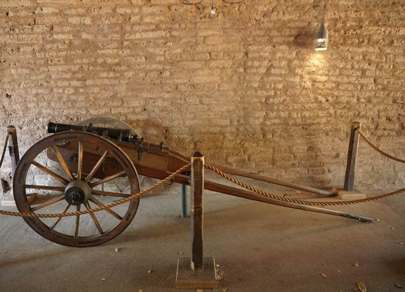 A historical exhibit at the Sonoma Barracks in Sonoma CA