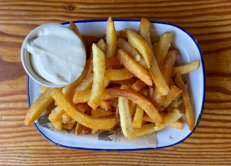 Fries at Handline with the famous Sao Jorge Sauce