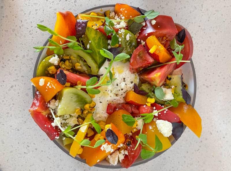Seasonal salad at Folktable Restaurant in Sonoma, CA