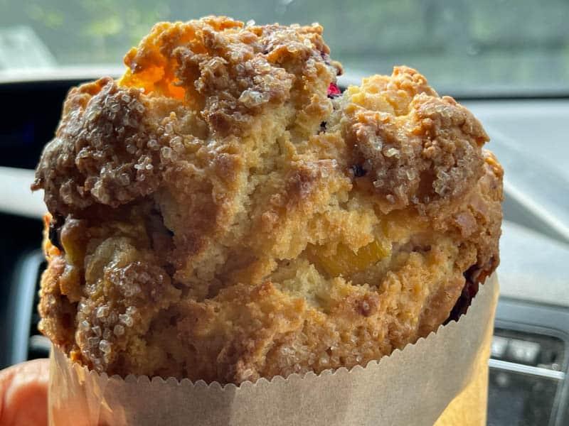 Scones to go from Wild Flour Bread in Freestone, California