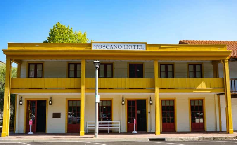 Historic Toscano Hotel Sonoma California