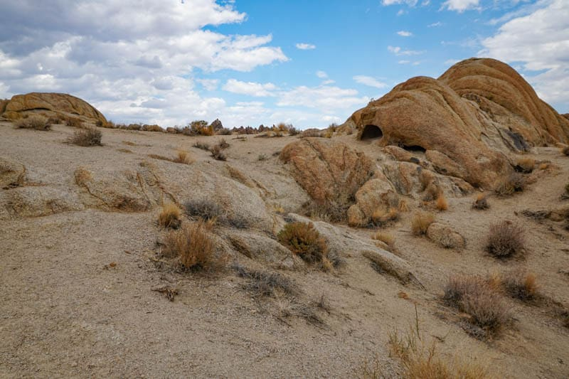 View from the Mobius Arch Loop Trail in Lone Pine, CA