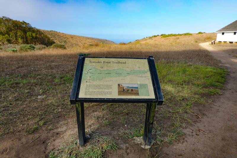 Toamles Point Trailhead b y Pierce Point Ranch in Point Reyes, California