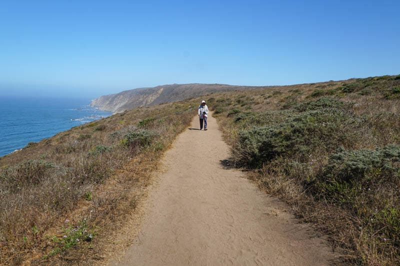 Returning to the trailhead at Tomales Point in Point Reyes, CA