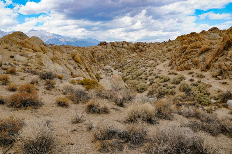 A view from the Arch Trail in the Alabama Hills, CA